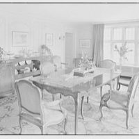 Henry W. Bagley, Bellehaven, residence in Greenwich, Connecticut. Dining room I