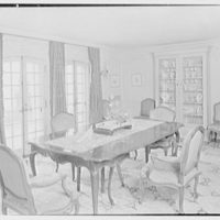 Henry W. Bagley, Bellehaven, residence in Greenwich, Connecticut. Dining room II