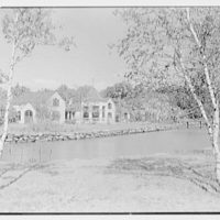Henry W. Bagley, Bellehaven, residence in Greenwich, Connecticut. Farm group, from left, over creek