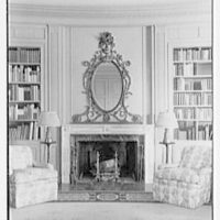 Henry W. Bagley, Bellehaven, residence in Greenwich, Connecticut. Library fireplace detail