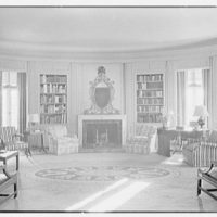 Henry W. Bagley, Bellehaven, residence in Greenwich, Connecticut. Library, general view from door