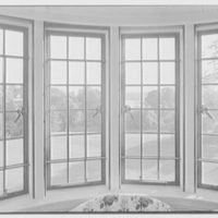 Henry W. Bagley, Bellehaven, residence in Greenwich, Connecticut. Sitting room, window view