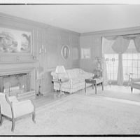 H.H. Rennell, residence in Sasco Hill, Southport, Connecticut. Living room
