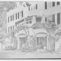 H.H. Rennell, residence in Sasco Hill, Southport, Connecticut. Rear facade, horizontal
