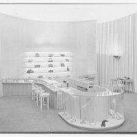 I. Miller shoe store, business at 5th Ave. and 54th St., New York City. Counter and rear, high viewpoint