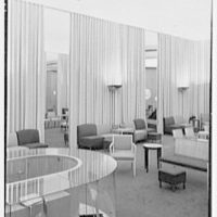 I. Miller shoe store, business at 5th Ave. and 54th St., New York City. Mirror and drapes on side wall