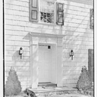 Jerome W. Blum, residence at 3 Willow Ln., Scarsdale, New York. Exterior detail