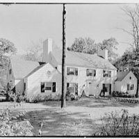 Jerome W. Blum, residence at 3 Willow Ln., Scarsdale, New York. General exterior