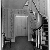 Jerome W. Blum, residence at 3 Willow Ln., Scarsdale, New York. Stair hall