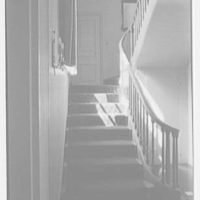 J.S. Griswold, residence in Meads Point, Greenwich, Connecticut. Staircase