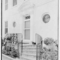 Louis E. Stoddard Jr., residence in Westbury, Long Island. Entrance detail