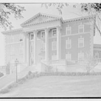 Maxwell School of Citizenship, Syracuse University, Syracuse, New York. North facade, general view