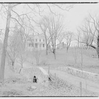Mr. and Mrs. Allmon Fordyce, residence in Glen Gardner, New Jersey. Distant view of house from approach