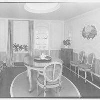 Mrs. Walter Z. Shafer, residence at 277 Park Ave., New York City. Dining room I
