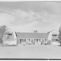 Neil Agnew, Kettlehill Farm, residence in Newtown, Connecticut. Exterior, axis view