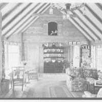 Neil Agnew, Kettlehill Farm, residence in Newtown, Connecticut. Living room to kitchen, door open