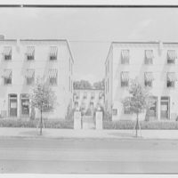 North Fortieth Street housing group, Philadelphia, Pennsylvania. General front view, axis