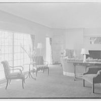 Ralph J. Cordiner, residence on White Oak Rd., Fairfield, Connecticut. Living room, general view II