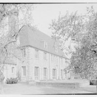 Rush Sturges, residence in Wakefield, Rhode Island. East facade, from left, through trees