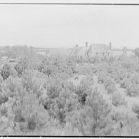Rush Sturges, residence in Wakefield, Rhode Island. House, from hill