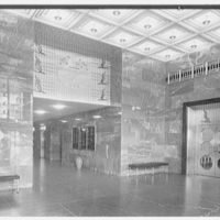 Southern New England Telephone Company, administration building, New Haven, Connecticut. Foyer II