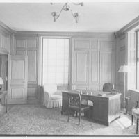 Southern New England Telephone Company, administration building, New Haven, Connecticut. President's office, to desk