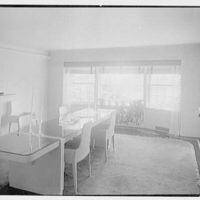 Stanley R. Miller, residence on E. Middle Patent Lane, Greenwich, Connecticut. Dining room I