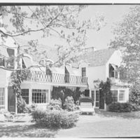 Stanley R. Miller, residence on E. Middle Patent Lane, Greenwich, Connecticut. Rear terrace I
