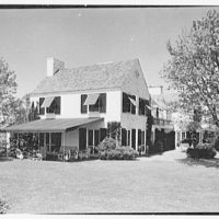Stanley R. Miller, residence on E. Middle Patent Lane, Greenwich, Connecticut. South terrace end