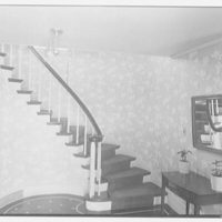 Stanley R. Miller, residence on E. Middle Patent Lane, Greenwich, Connecticut. Staircase