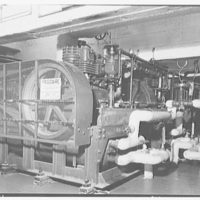 Stouffer's restaurant, E. 42nd St., New York City. Frigidaire compressors