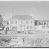 Walter C. Beckjord, residence on Bobolink Ln., Greenwich, Connecticut. General, rear facade