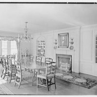 William C. Esty, residence on Oenoke Ave., New Canaan, Connecticut. Dining room, to side