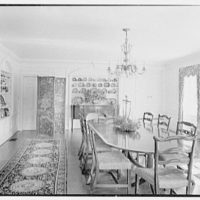 William C. Esty, residence on Oenoke Ave., New Canaan, Connecticut. Dining room, to sideboard