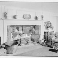 William C. Esty, residence on Oenoke Ave., New Canaan, Connecticut. Fireplace, living room