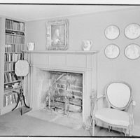 William C. Esty, residence on Oenoke Ave., New Canaan, Connecticut. Library fireplace