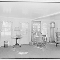 William C. Esty, residence on Oenoke Ave., New Canaan, Connecticut. Living room windows