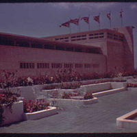 World's Fair. Courtyard near British Pavilion