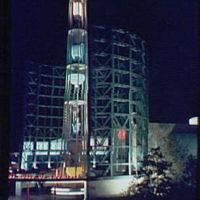 World's Fair. DuPont Building at night
