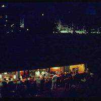 World's Fair. Food vendors at night