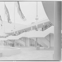 World's Fair, Ford Motor Building. Stairs to loading platform, from below