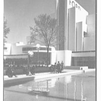 World's Fair, Ford Motor Building. Vertical of music stand