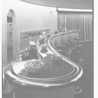 World's Fair, Italian Line restaurant, Italian Building. Bar, detail of bar from above, vertical