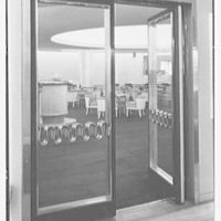 World's Fair, Italian Line restaurant, Italian Building. Bar entrance door