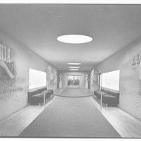 World's Fair, Italian Line restaurant, Italian Building. Corridor, to entrance