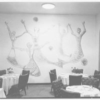 World's Fair, Italian Line restaurant, Italian Building. Mural in dining room I