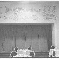 World's Fair, Italian Line restaurant, Italian Building. Mural in dining room VI