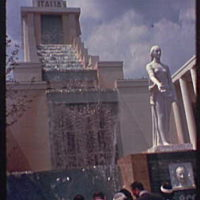 World's Fair. Italian Pavilion, waterfall, and Marconi monument I