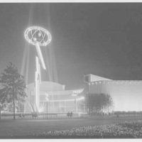 World's Fair night views. General Electric tower IV