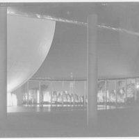 World's Fair night views. Perisphere and ramp I
